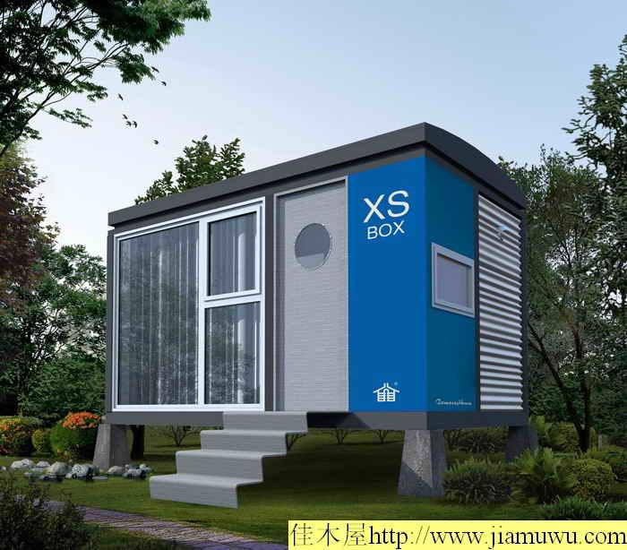 河北秦皇岛海洋公园一次就添加40多栋这种新款集装箱型移动木屋别墅图片