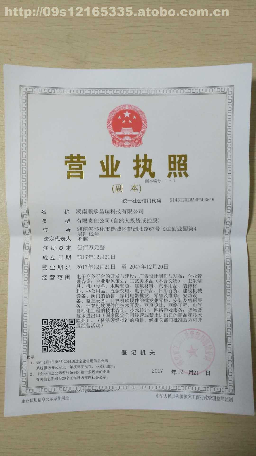 营业执照_湖南顺承昌瑞科技有限公司